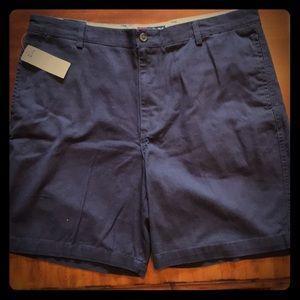 NWT - CHAPS Flat Front Navy Twill Shorts $50